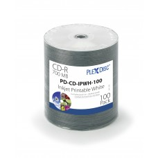 Plexdisc CD-R 52X 700Mb, baltu spausdinamu paviršiumi