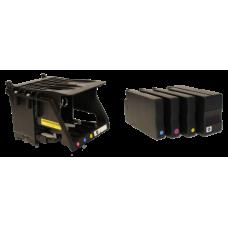 Spausdintuvo galva su CMYK rašalo kasečių komplektu LX1000e / LX2000e spausdintuvams